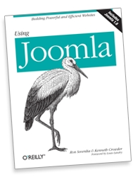 "The cover of the ""Using Joomla!' book"