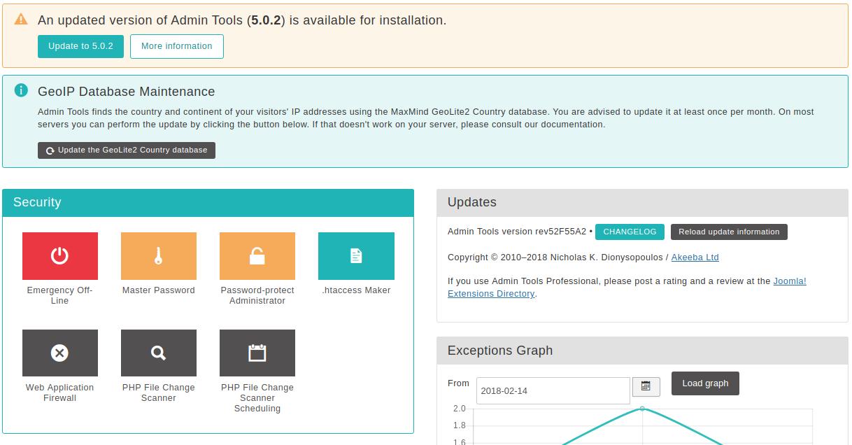 Admin Tools for Joomla! :: Chapter 2  Using Admin Tools