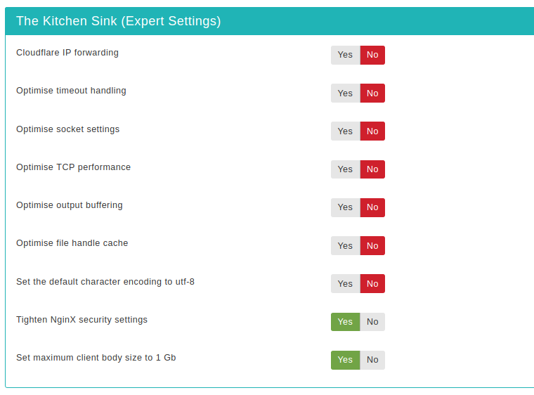 Admin Tools for Joomla! :: The Kitchen Sink (Expert Settings)