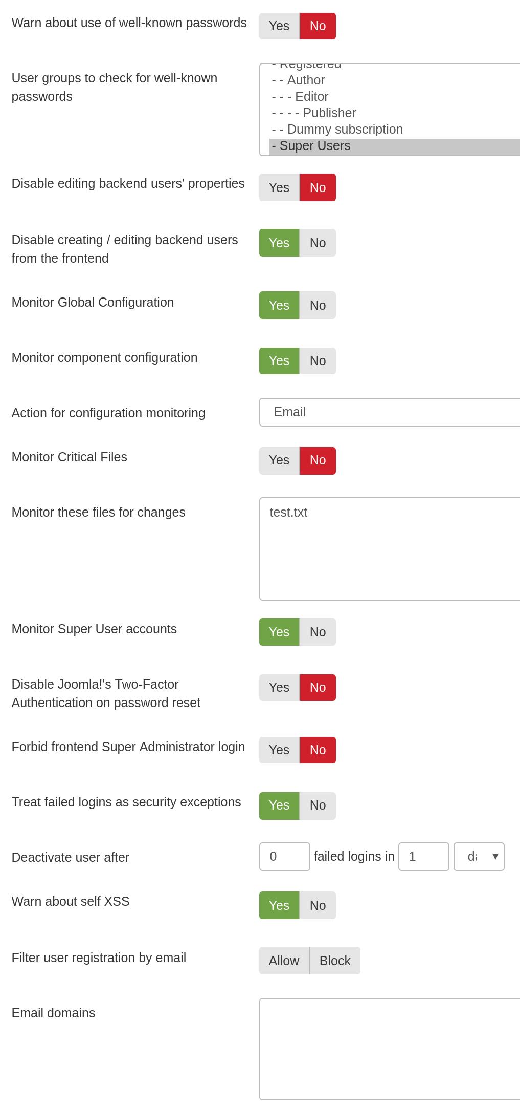 Admin Tools for Joomla! :: Web Application Firewall