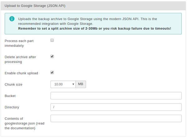 Akeeba Backup for Joomla! :: Data processing engines
