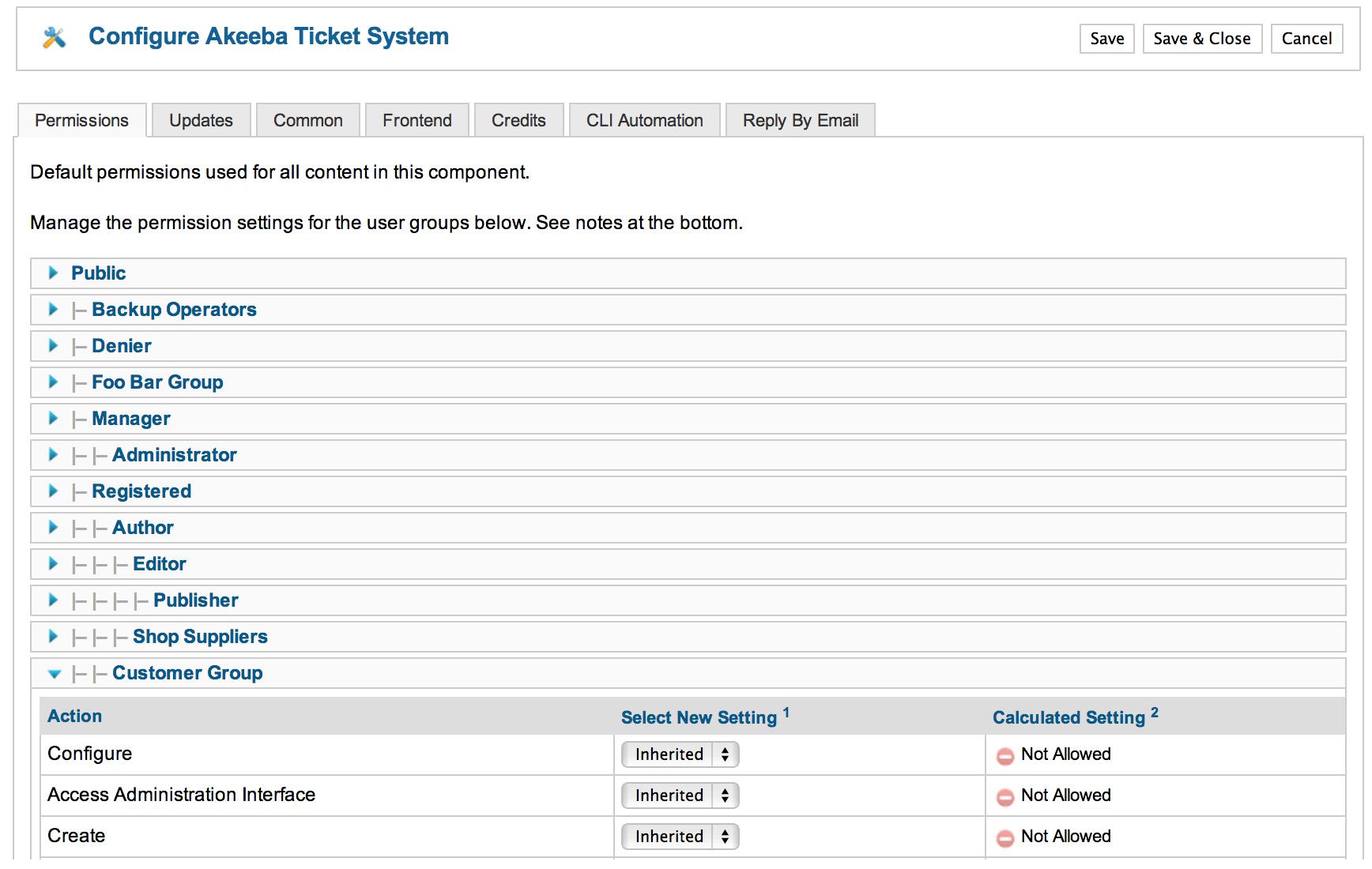 Akeeba Ticket System :: Options